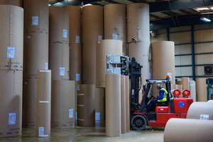 A Smurfit Kappa corrugated packaging factory in the UK