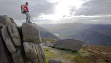 A hiker in the Mourne Mountains. Could adventure tourism turn Ireland into the next New Zealand?