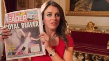 Liz Hurley in scene from new E! series 'The Royals'