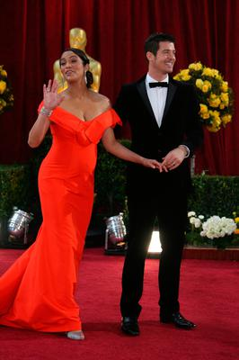 Paula Patton and RobinThicke arrive at the 82nd Academy Awards at the Kodak Theater in Hollywood, California