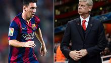 Near miss: Arsene Wenger wanted to sign Lionel Messi as a teenager but Arsenal could not buy the striker's family a flat, according to a new book