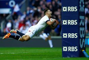 England's Danny Care scores a try against Ireland during their Six Nations Championship rugby union match at Twickenham