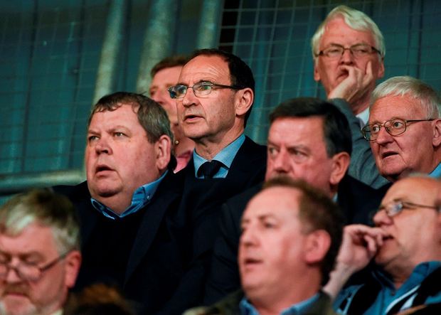 Martin O'Neill following the action in Tallaght. Photo: Sportsfile