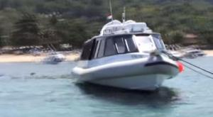The Gili Cat II ferry, which exploded between Bali and Lombok Jahmin Lerum / Youtube screengrab