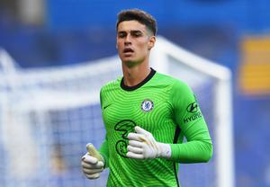 Chelsea stopper Kepa Arrizabalaga had a day to forget, just like his manager Frank Lampard. Photo: Neil Hall/Pool via Reuters