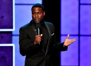 Roastmaster Kevin Hart speaks onstage at The Comedy Central Roast of Justin Bieber at Sony Pictures Studios