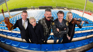 Classic stuff: Louis Roden, Irish Chamber Orchestra; Wendy James of Transvision Vamp; Jerry Fish; Tom Dunne; and Jane Hackett, Irish Chamber Orchestra, at the launch of Tipp Classical Festival at Semple Stadium, Thurles, Co Tipperary, where it will take place in September. Photo: Oisin McHugh/True Media