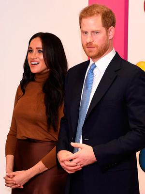 Meghan Markle with husband Prince Harry. Photo: Daniel Leal-Olivas