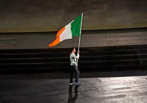 Ireland flag bearer Katie Taylor during the 2015 European Games Opening Ceremony at the Olympic Stadium in Baku, Azerbaijan.