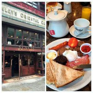 A photograph of Eva Longoria's breakfast that she enjoyed at Bewley's Cafe on Grafton Street during her visit to Dublin for the Web Summit 2014.