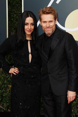 BEVERLY HILLS, CA - JANUARY 07:  Giada Colagrande and actor Willem Dafoe attends The 75th Annual Golden Globe Awards at The Beverly Hilton Hotel on January 7, 2018 in Beverly Hills, California.  (Photo by Frederick M. Brown/Getty Images)