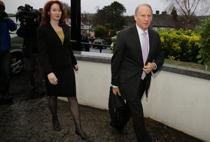Dr Richard Haass and Harvard Professor Meghan O'Sullivan arrive at the Stormont Hotel in Belfast.