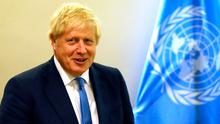 British Prime Minister Boris Johnson at the UN.  Photo: Spencer Platt/Getty Images