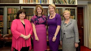 United front: Former Tánaistí Mary Harney, Joan Burton, Mary Coughlan and Frances Fitzgerald at a 'Women in Government' event in 2018. PHOTO: CAROLINE QUINN