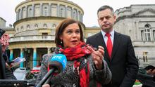 Promises: Sinn Féin leader Mary Lou McDonald with finance spokesman Pearse Doherty. Photo: Gareth Chaney, Collins