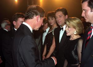 File photo dated 28/10/1996 of Prince Charles meeting with Joan Rivers at the Royal Variety Performance, as the comedian has died in hospital in New York, her daughter Melissa said