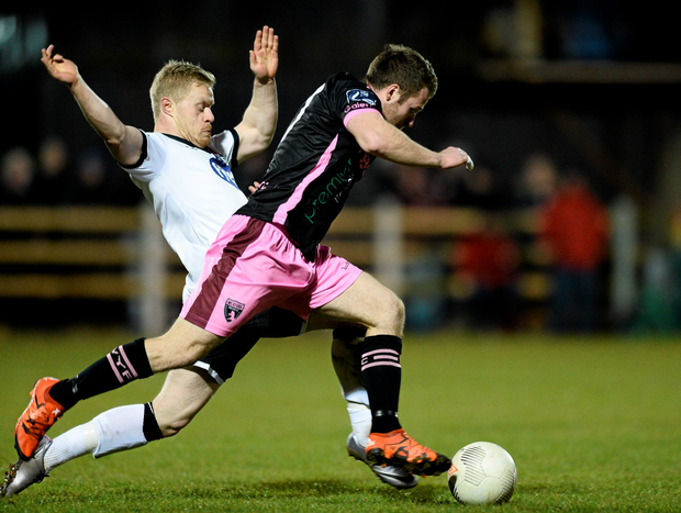 Jonny Bonner's first league goal of the season helped give Wexford Youths a deserved victory. Picture credit: Sam Barnes / SPORTSFILE
