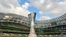 The Aviva Stadium, which hosted the 2011 Europa League final between FC Porto and SC Braga, will be the venue for three Euro 2020 group games and one round of 16 fixture. Picture credit: Brian Lawless / SPORTSFILE