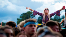 Young people having fun at the Electric Picnic festival recently in Co Laois Photo: Fergal Philips