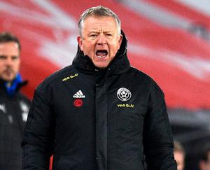 Sheffield United manager Chris Wilder. Photo: PA
