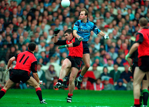 In action for Dublin during the 1994 All-Ireland final defeat to Down. Photo; Ray McManus/Sportsfile