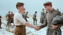 Peace and good wishes: the opposing troops in World War 1 meet in the latest Christmas ad from Sainsbury's