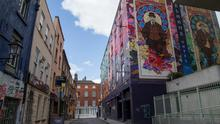 Cope Street, Temple Bar, where a man in his 30s was stabbed a number of times and left in a critical condition at St James' Hospital. 28/6/2015  Picture by Fergal Phillips