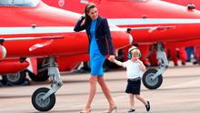 Catherine, Duchess of Cambridge and Prince George during a visit to the Royal International Air Tattoo at RAF Fairford on July 8, 2016 in Fairford, England.  (Photo by Chris Jackson/Getty Images)