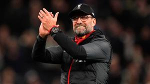 Liverpool manager Jurgen Klopp says next year's title will be a four-horse race. Photo: John Walton/PA Wire
