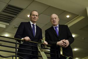 New ICSA president Patrick Kent (right) with the Minister for Agriculture Simon Coveney at the ICSA Annual Conference in Dublin. Mr Kent described the Stena move as 'highly significant'.