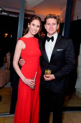 Jessica Blair Herman and Allen Leech attend Netflix 2019 SAG Awards after party at Sunset Tower Hotel on January 27, 2019 in West Hollywood, California.  (Photo by Presley Ann/Getty Images for Netflix)