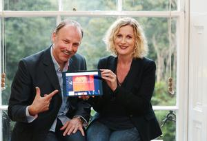 23/09/2014 Pictured launching the new Culturefox are Irish actor Don Wycherley and Orlaith McBride, the Director of the Arts Council. PIC: MAXWELLS.