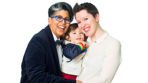 Dil Wickremasinghe and Anne Marie Toole pictured with their son Phoenix