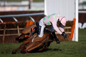 Ruby Walsh falls from Annie Power in 2015