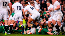 Iain Henderson of Ireland goes over to score his side's first try