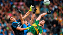 Rory O'Carroll and Stephen Cluxton combine to keep out Paul Geaney in Dublin's victory against Kerry in the All-Ireland SFC final in Croke