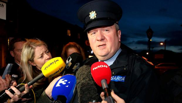 Former Garda press officer Superintendent David Taylor briefs the press in this photograph from 2014. Photo: Frank McGrath
