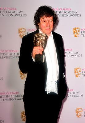 Stephen Rea with the BAFTA for Best Supporting Actor for The Honourable Woman. Photo: Ian West/PA Wire