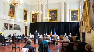 New setting: The Supreme Court in the dining hall at King's Inns in Dublin. Photo: Collins Courts