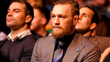 Conor McGregor in attendance at UFC Fight Night last weekend.