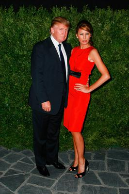(L-R) Donald Trump and Melania Trump attend Duchess after party for Chanel at The Cooper Square Hotel on September 10, 2008 in New York City.  (Photo by Andrew H. Walker/Andrew Walker/Getty Images for CHANEL Beaut?)