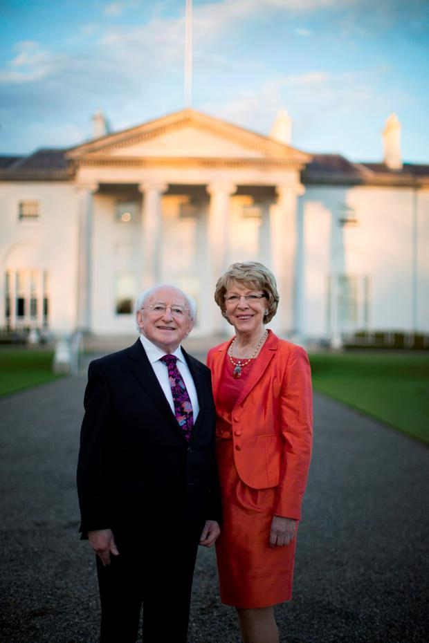 LEADER: President Michael D Higgins and his wife, Sabina. Photo: Kip Carroll