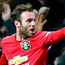 Juan Mata celebrates after scoring the winning goal in last night's FA Cup third round replay at Old Trafford. Photo: Getty Images