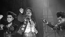 Michael Jackson in concert  at Pairc ui Chaoimh, Cork (Part of the Independent Newspapers Ireland/NLI Collection).
