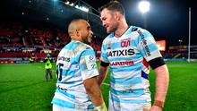 Simon Zebo, left, and Donnacha Ryan of Racing 92 after the Heineken Champions Cup match against Munster in Thomond Park last November. Photo by Brendan Moran/Sportsfile