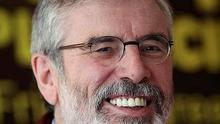 Sinn Fein Leader Gerry Adams
