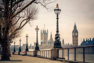 A view of the Palace of Westminster. Stock picture