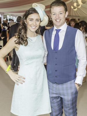 Marie Ryan & Jody Harkin pictured at the 150th Dubai Duty Free Irish Derby at the Curragh Racecourse on Saturday 27th June. Photo Anthony Woods.