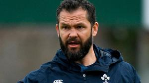 Head coach Andy Farrell. Photo: Ramsey Cardy/Sportsfile