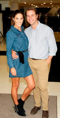 Glenda Gilson and Rob MacNaughton at the launch of the Peter O'Brien for Arnotts Autumn Winter 15 Collection